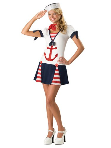 Sexy Sailor Costume Military Navy Naval Uniform USA Patriotic Teen Costume