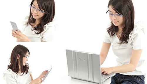 CB ブルーライトカットメガネ パソコン・スマホ・タブレット使用時に! メタルフレームでとってもオシャレ。ブルー