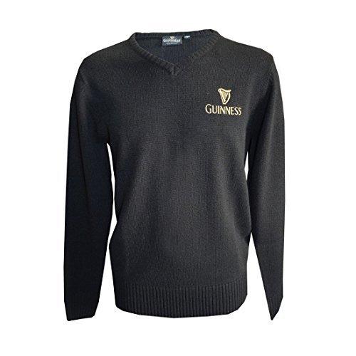 guinness-v-neck-gold-emblem-sweater-s-xl-xx-large