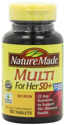 Nature Made Multi For Her 50+ Multiple Vitamin and Mineral, 90 Tablets (Pack of 3) (Womans Vitamins Nature Made compare prices)