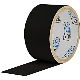 "ProTapes Pro Flex Flexible Butyl All Weather Patch and Shield Repair Tape, 4"" Length x 4"" Width, Black (Pack of 12)"