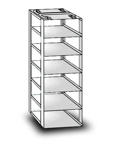 """So-Low 19-6-3 Rack For Chest Style Ultra-Low Freezers. 6 Shelves For 3"""" Boxes. front-455545"""