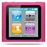 Premium Hot Pink Magenta Soft Silicon Gel Skin Case Cover for the Apple iPod Nano 6 Gen, 6th Generation