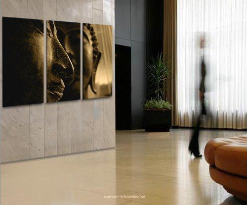 Buddha v4 3 quadri moderni su tela pronti da appendere montata su pannelli in legno - Quadri da appendere in bagno ...