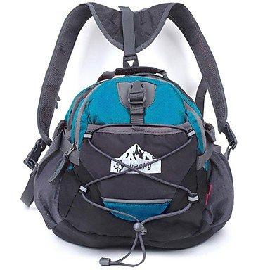 Hasky® Tear-Resistant Nylon Multifunctional Hiking Backpack _CrossShoulder Bag_Waist Bag (Light Blue)