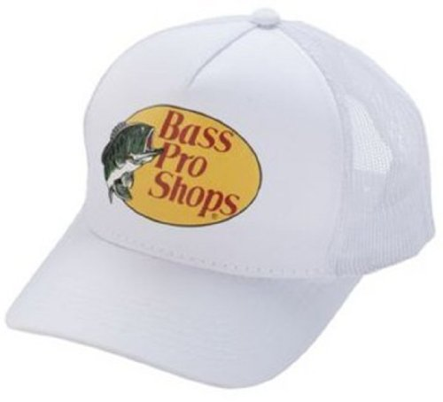 Bass Pro Adjustable Mesh Hat - White (Bass Pro Shops Cap compare prices)