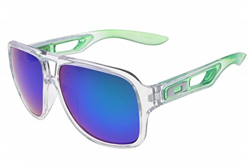 Badman Prizm Daily Polarized oo6020 - 06 grande oversize quadrato Flat Top Fashion Retro occhiali da sole, Uomo, Matte Clean, Taglia unica