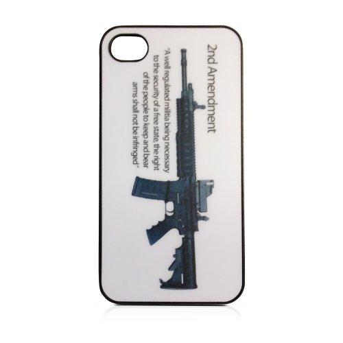2Nd Amendment Ar-15 Assault Rifle Gun Rights Iphone 4/4S Hard Plastic Snap On Case Black