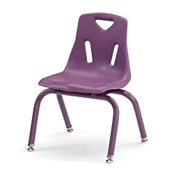 Berries 8122JC1004 Stacking Chair with Powder-Coated Legs, 12\