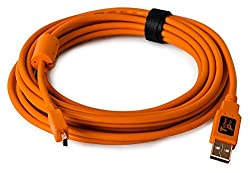 Tether Tools TetherPro USB 2.0 male to Mini-B 5 pin, 15 feet - Hi-Visibilty Orange