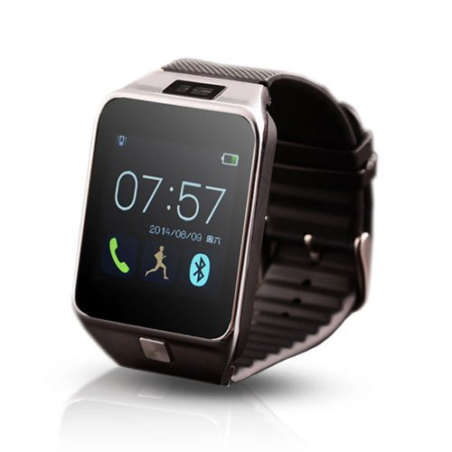 Lincass V8 Bluetooth Smart Watch Wristwatch V8 Uwatch Fit for Smartphones IOS Android System Smartphone Touch Screen Camera Smartwatch (Silver)