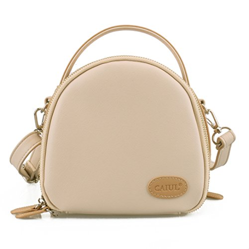 [Fujifilm instax Mini Case]--CAIUL First Generation Zipper Universal Carry Case Bag For Instax Mini 8 70 7s 25 50s 90 Camera, Polaroid ZIP Mobile w/ZINK Zero Ink Printing, Instax Printer, Beige