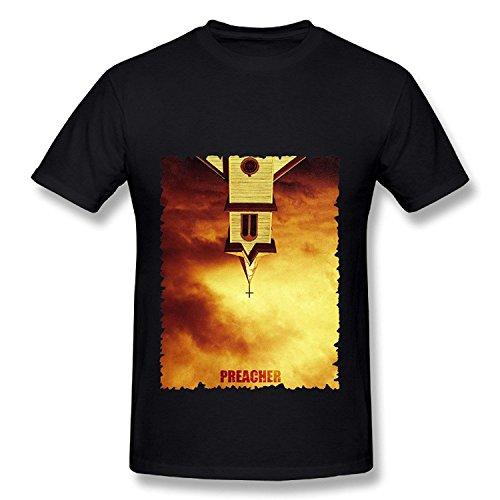 American Action TV Series Preacher 2016 Poster Black T Shirt For Men