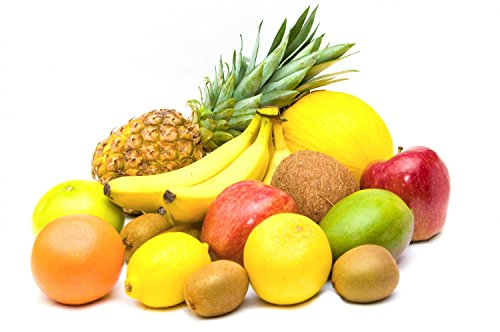 """Assorted Fruits On White - 36""""W X 24""""H - Peel And Stick Wall Decal By Wallmonkeys front-771658"""