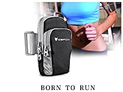 IceFox Universal Sport armband for any cell phone which screen less than 5 inch,including iphone 6/5/5s/5c/4s/4,samsung S5/S4/S3,ipod touch,with Key& Small Money pocket (black) by IceFox
