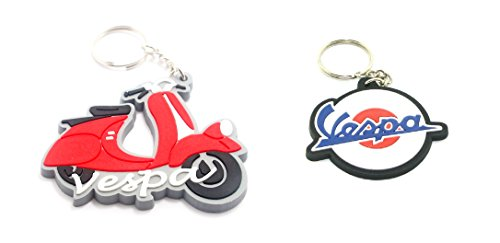 jennysar-vpk05-2-x-vespa-rubber-keychain-keyring-racing-motorcycle