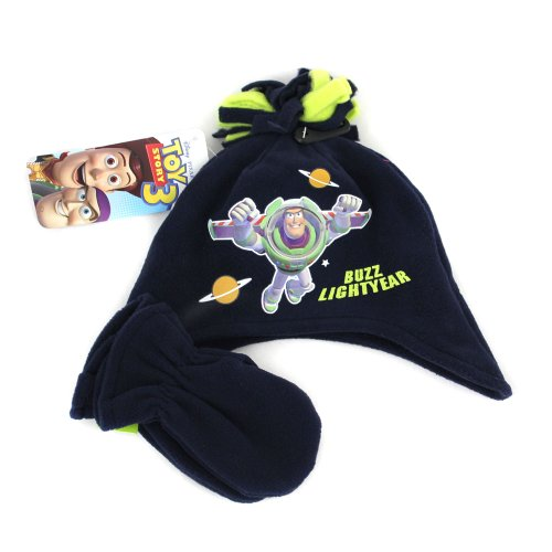 Toy Story Buzz Lightyear Hat & Mitten Set - Age 2 to 4 Years