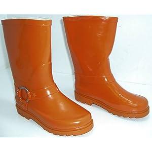 generic girls x1031ob4 orange cowboy/western style wellington boots bnib