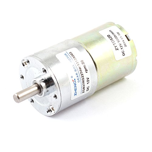 12V 6mm Dia Shaft 2 Terminal 20RPM Electric Gearbox DC Gear Motor