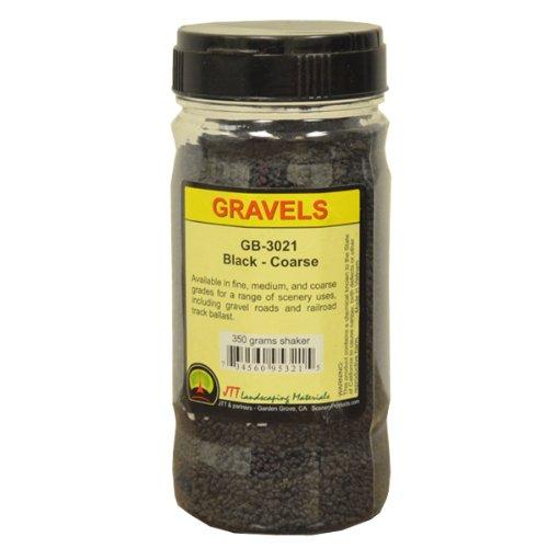 JTT Scenery Products Ballast and Gravel, Black, Coarse - 1