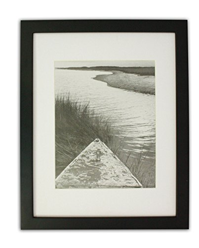 Golden State Art 11×14 Photo Wood Frame with Mat for 8×10 Picture BLACK
