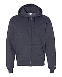 Champion Eco� 9 oz.; 50/50 Full-Zip Hood - NAVY HEATHER - XL