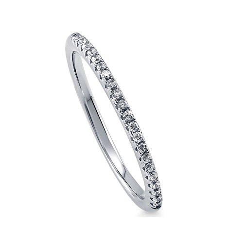 [ジュエリーキャッスル] Jewelry Castle リング 指輪 マイクロセッティング ハーフエタニティーリング cz ダイヤモンド (12)