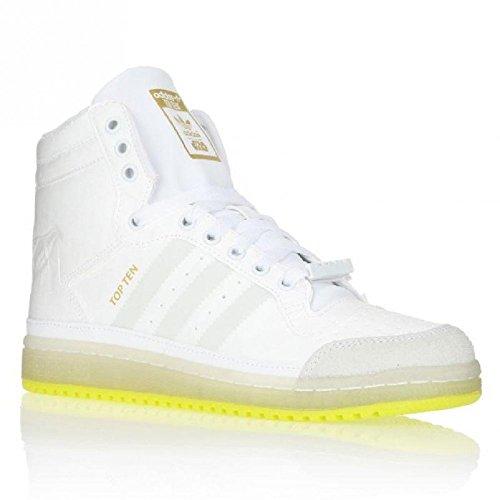 Baskets Top Ten Hi Yoda Junior adidas originals - Blanc/Vert Solar