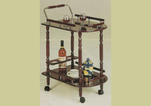 Affordable cherry finish kitchen dining serving cart brass accents harrietfowlesfkjua - Dining room serving carts ...