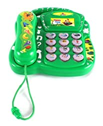Happy Time School Telephone Battery Operated Electronic Learning Toy Phone w/ Music Sounds, Lights