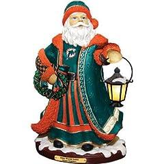 Buy MIAMI DOLPHINS Limited Edition Memory Company Olde World Santa Christmas Figurine by Memory Company