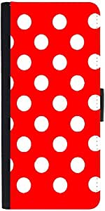 Snoogg Red Polka Dot Designer Protective Back Case Cover For Asus Zenfone 5 A...