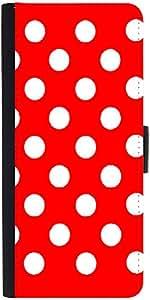 Snoogg Red Polka Dot Designer Protective Flip Case Cover For Samsung Galaxy A5