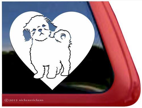 Love Shih Tzu Dog Auto Vinyl Window Decal Sticker front-383044