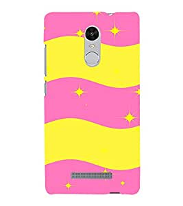 EPICCASE Pink n Yellow Pattern Mobile Back Case Cover For Xiaomi Redmi Note 3 (Designer Case)