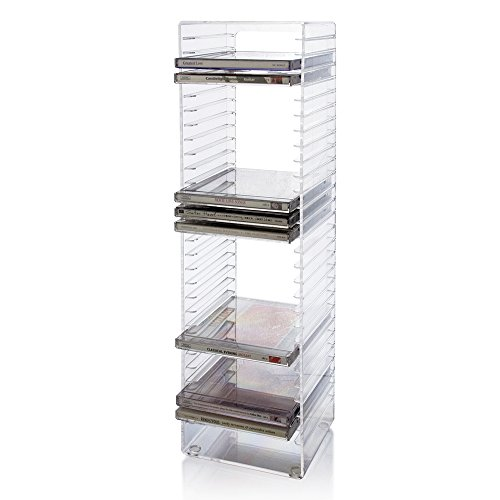 Cd Tower Rack Stand Organizer Computer Games Holder