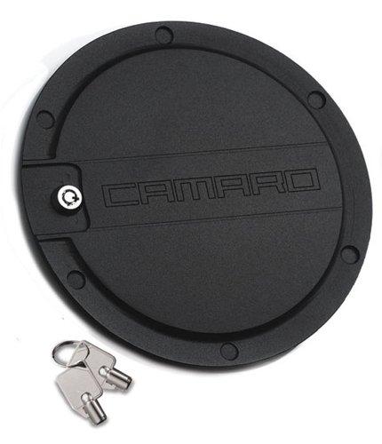 T-Rex 6910061 Defenderworx Black Locking Gas Door with Camaro Logo (Defenderworx Camaro compare prices)