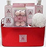 Bain D'esprit Affluiana Bath Collection 10 Piece Gift Tote - Peony in Bloom