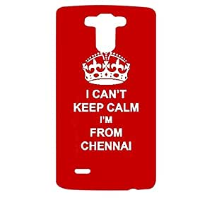 Skin4gadgets I CAN'T KEEP CALM I'm FROM CHENNAI - Colour - Red Phone Designer CASE for LG G3 (D851,855,830)