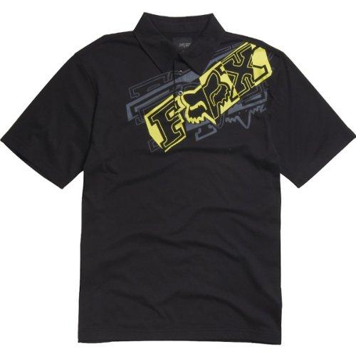 Fox Racing Brazzer Youth Boys Polo Sportswear Shirt/Top - Black / X-Large