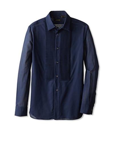 Valentino Men's Pleated Bib Shirt
