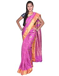 Art Silk Saree With Jacquard Work All Over Design