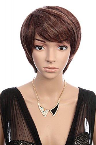prettyland c111 kurzhaar per cke dunkelbraun mit feinen str hnchen glattes haar cosplay wig. Black Bedroom Furniture Sets. Home Design Ideas