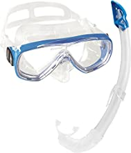 Cressi Onda Mare Italian Made Snorkel Set  - Clear/Blue,