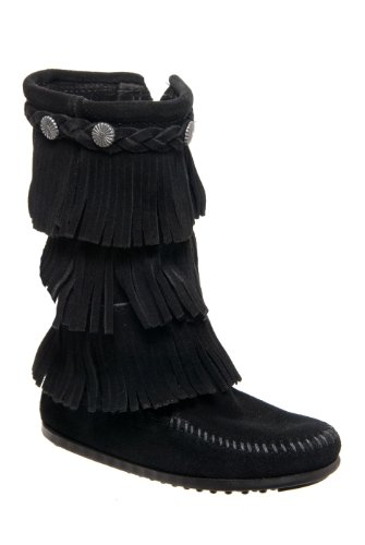 Minnetonka Kids' 3-Layer Fringe Boot