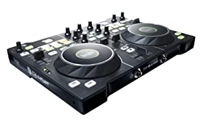 hercules dj4set contr leur dj usb pour pc et mac avec 2 plateaux d tection de pression. Black Bedroom Furniture Sets. Home Design Ideas