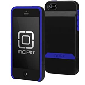 Incipio Stashback for iPhone 5 - Retail Packaging - Obsidian Black / Ultraviolet Blue