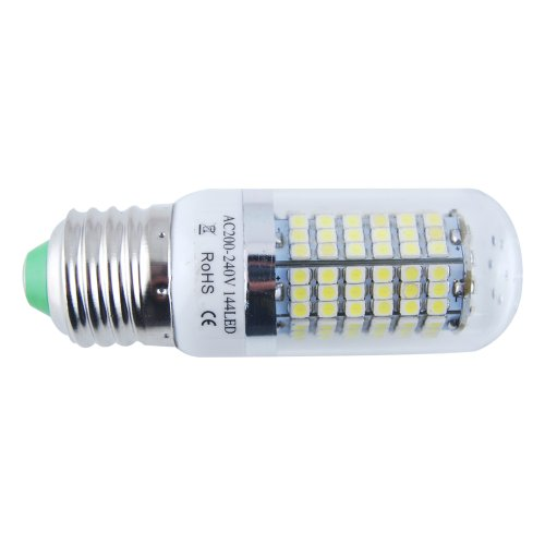 THG 10 x Energy Efficiency Cool White Living Dining Room Bedroom Lighting E27 144 SMD 3528 LED 280LM 6000-6500K Corn Light Spotlight Bulb