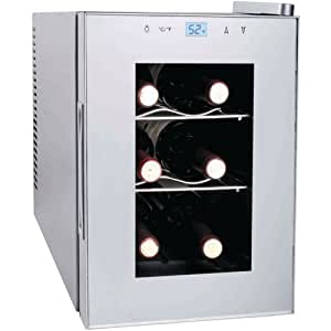 Haier HVTM06ABS 6-Bottle Wine Cellar with Electronic Controls