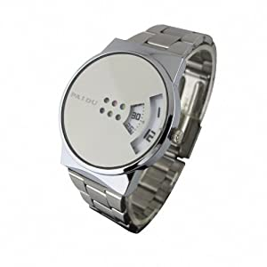 YouYouPifa Modern Stainless Steel Rotatable Dial Quartz Men's Watch (White)
